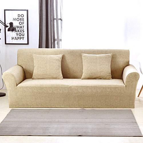 WXQY Funda de sofá elástica con patrón de Lino Funda de sofá elástica Todo Incluido a Prueba de Polvo Funda de sofá de Sala de Estar sillón A14 3 plazas