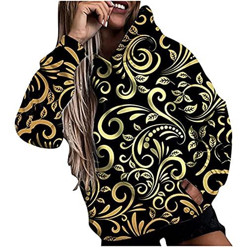 Sunflower Daisy Cute Hoodies for Womens Fall Fashion Long Sleeve Shirts Winter Casual Hooded Blouse Tops Sweatshirts