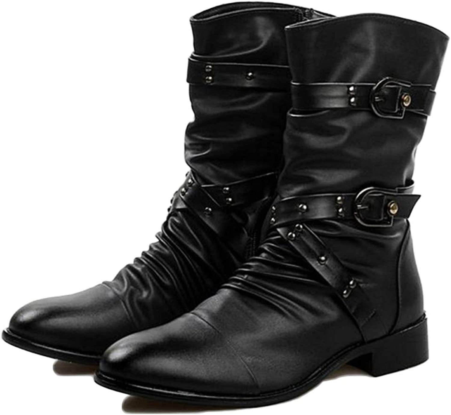 Men's Boots Martin Boots Adult Boots Classic Boots Classic Leather Fashion Rivets High Help