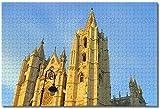 Puzzle- España Catedral León Rompecabezas para Adultos Niños 1000 Piezas Juego de Rompecabezas de Madera para Regalos Decoración del hogar