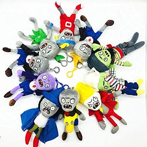Stuffe'd & Plush Plants - 10pcs/lot 18CM Plants vs Zombies Plush Toys Pendant PVZ Zombies Plush Key chain Toy Soft Stuffe'd Toy Doll for Children Kids Gift LATT LIV