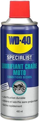 WD-40 Specialist Moto • Lubrifiant Chaîne • Aérosol • Idéal On-road et conditions sèches • Propriétés anti-éclaboussu...