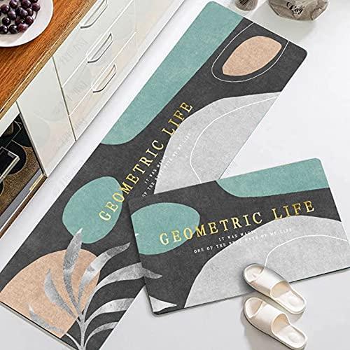 Alfombrillas Antideslizantes de Cocina para decoración del hogar, Alfombrillas de Entrada Interiores Minimalistas Modernas, alfombras absorbentes de baño A6 40x60cm