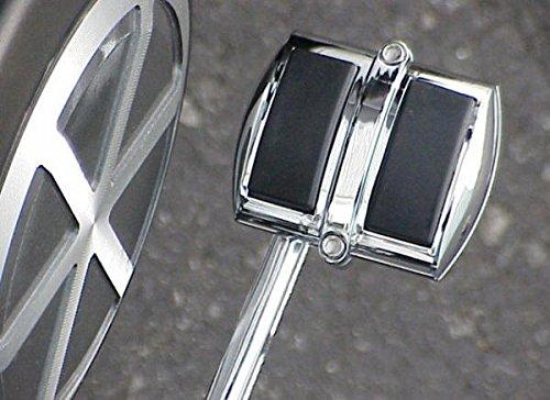 i5 Chrome Rear Brake Pedal Shifter Cover compatible with Honda Kawasaki Suzuki & Yamaha Cruisers.