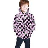 Snoopy - Sudadera unisex con capucha y bolsillo grande, manga larga para niños y niñas Negro Negro ( S