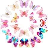 18 Pieces Butterfly Hair Clips Glitter Barrettes Butterfly Snap Hair Clips for Teens Women Hair Accessories (Chic Styles)
