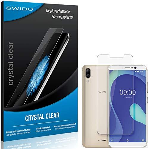 SWIDO Schutzfolie für Wiko Y80 [2 Stück] Kristall-Klar, Hoher Festigkeitgrad, Schutz vor Öl, Staub & Kratzer/Glasfolie, Bildschirmschutz, Bildschirmschutzfolie, Panzerglas-Folie