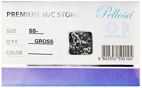 Premium PELLOSA Machine Cut Rhinestone Hot Fix SS-16(3.8mm-4.0mm) Amethyst 10 Gross