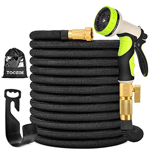 TOCZIM 100ft New Expandable Garden Hose - Superior Strength...