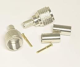 6PCS Mini UHF Male Plug Crimp for RG58 RG142 LMR195 Cable RF coaxial Connector