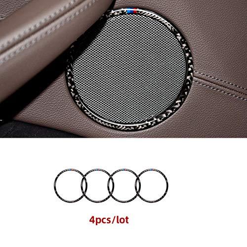 Lfldmj Für BMW G01 G08 G02 X3 X4 , Innenraum Kohlefaser M Performance Lenkrad Knopfrahmen Innentürgriffabdeckung Verkleidung