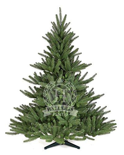 Original Hallerts® Spritzguss Weihnachtsbaum Bolton 150 cm als Edel Nordmanntanne - Christbaum zu 100% in Spritzguss PlasTip® Qualität - schwer entflammbar nach B1 Norm, Material TÜV und SGS geprüft - Premium Spritzgusstanne