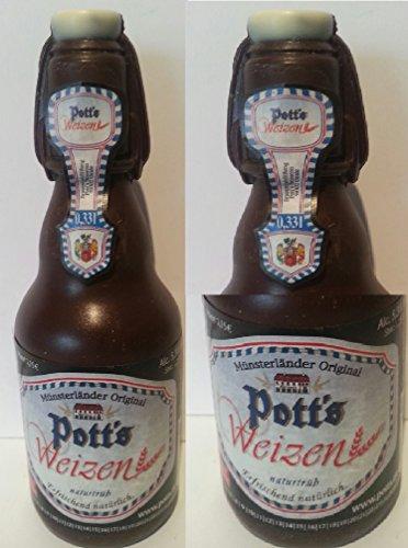 04#022621 Schokolade, Bierflasche, in 0,33 l Größe, Vatertag, Potts, Bier, Bierflasche aus Schokolade, Schokoladenbierflasche