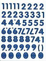 (シャシャン)XIAXIN 防水 シャイニー PVC製 数字 ナンバー ステッカー セット 耐候 耐水 ローマ字 キャラクター 表札 スーツケース ネームプレート ロッカー 屋内外 兼用 TSS-608 (ブルー)