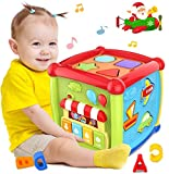 6 in 1 Multipurpose Activity Cube Baby Toys 12-18 Month Baby Toys 6 12 Month Musical Color Shape...