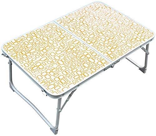 Outdoor Multi-Function Camping Picnic Table Pliante Portable Ordinateur Portable Bureau d'apprentissage Vert et Orange (Couleur: B, Taille: L * W * H: 64 * 42 * 29cm)