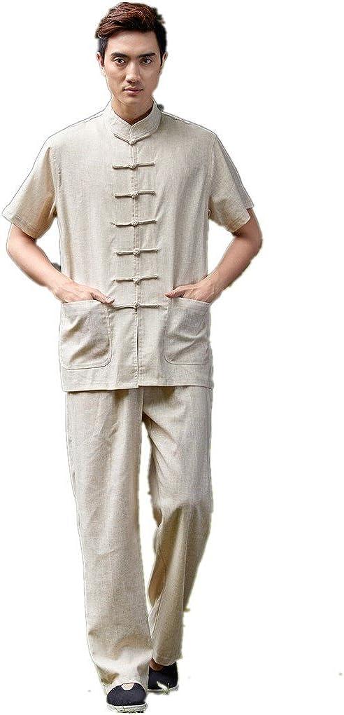 Shanghai Story Linen Kung Fu Suit Short Sleeve Tai Chi Uniform Martial Arts Set
