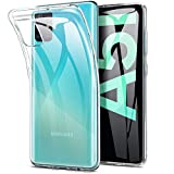 REY - Funda Carcasa Gel Transparente para Samsung Galaxy A51, Ultra Fina 0,33mm, Silicona TPU de Alta Resistencia y Flexibilidad