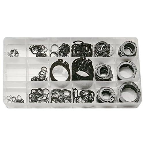 SW-Stahl, S8046, Anelli elastici assortimento 300 pezzi, 6-32 mm, per anelli esterni