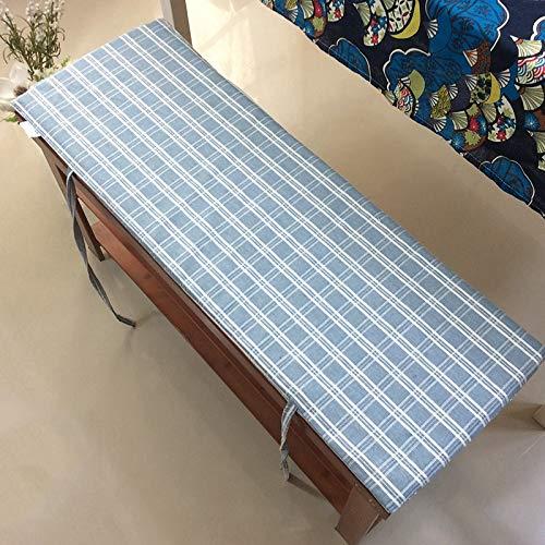 LANHTNG Cojín de banco de jardín con lazos de fijación, cojín suave para tumbona, cojín de asiento de viaje para interiores y exteriores, 2 cm de grosor, lavable (color: C, tamaño: 100 x 35 cm)