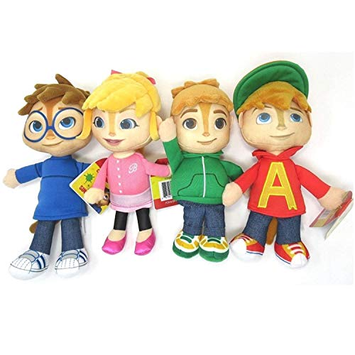NEW! Alvin & The Chipmunks ~ Alvin, Theodore, Brittany and Simon ~ Set of 4 Chipmunk Pals