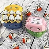 Huevera VERDE personalizada con el NOMBRE que quieras (6 huevos Kinder)