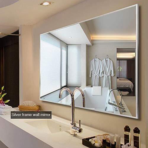 BJYX Moderne Feld-Spiegel-Make-up-Spiegel, Wohnzimmer Schlafzimmer Flur Glasspiegel, Wohnmultifunktions-dekorative Innenspiegel (Size : 80×130cm)