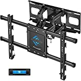 TV Wall Mount with Height Setting-BLUE STONE TV Mount for Most 32-80 Inch Flat Curved TVs,TV Bracket Dual Swivel Articulating Tilt 6 Arms Holds up to 110 lbs, Max VESA 24