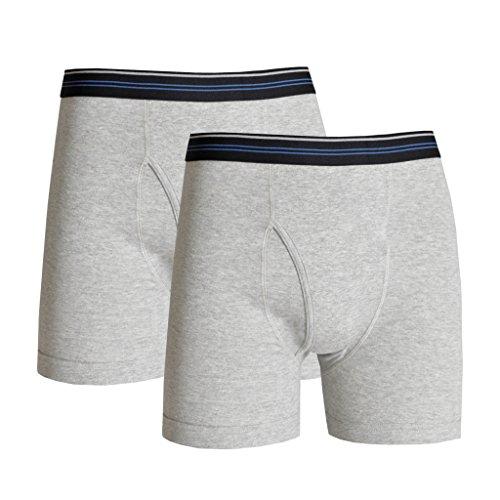 WATSONS Watson's Herren Boxershorts, 2er-Pack, Grau, XL