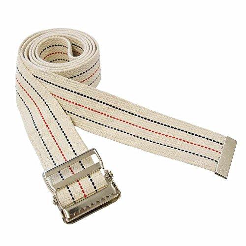 Premium Patient Transfer/Walking Gait Belt with Metal Buckle - Beige 60'L x 2'W…