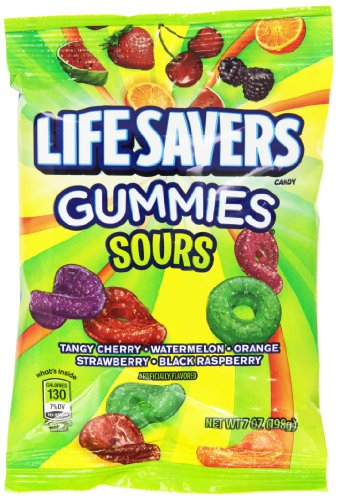 LifeSavers Gummies, Sours, 7 Ounce (Pack of 12)
