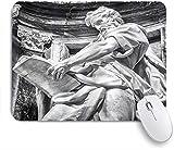 HASENCIV Tapis de Souris Gaming,Histoire architecturale de l'art de la Pierre à Rome, Italie, Conception européenne, Photographie, Impression,Base Antidérapante en Caoutchouc