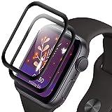 NLOEE [2 Stück] Pellicola Protettiva Compatibile con Apple Watch Series 3/2/1 42mm, Protezione Pellicola Vetro Temperato per iWatch 42mm, Copertura totale 3D, Anti-Bolla, Trasparente HD