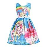 Lito Angels Niñas Vestidos de Unicornio Arcoiris Disfraces Fiesta de Halloween Informal Vestirse Talla 9-10 años Azul C