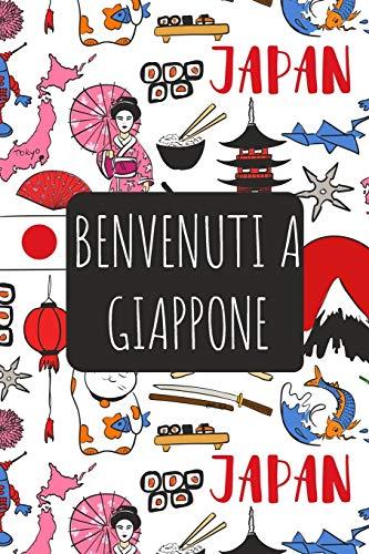 Benvenuti a Giappone: 6x9 Diario di viaggio I Taccuino con liste di controllo da compilare I Un regalo perfetto per il tuo viaggio in Giappone e per ogni viaggiatore