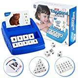 Plavision Learning Games Toys for Kids, Matching Letter Math Educational Spelling Toy for Word Memory Preschool Kindergarten Toddler Boys Girls 3 4 5 6 7 8 9 Years Old Xmas Birthday Gift (Navy Blue)