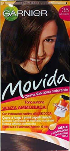 Movida Lot de 6 shampoings couleur sans ammoniaque Châtain 35