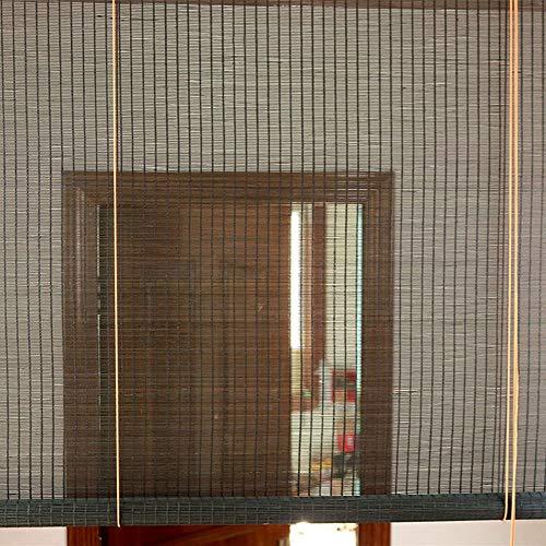 ERRU Cortina de Bambu Cortinas Enrollables de Bambú para Exteriores 145cm/ 125cm/ 105cm/ 85cm de Ancho, Persianas Venecianas Filtrantes de Luz para Pérgola/Ventana/Balcón/Patio