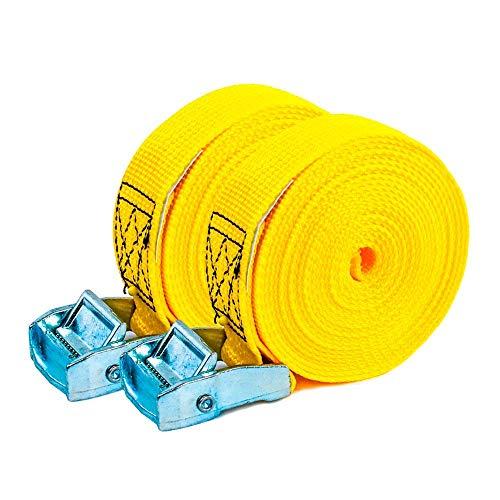 PONSA T35 - Professionelles Gurtband - Klemme - 2 STK Spanngurte. Zum Verzurren Leichter Ñadung - Länge 4m. Bruchlast 1000kg (real) 027048035108