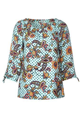 Cecil Damen Carmen-Bluse mit Muster Light Alabaster beige S