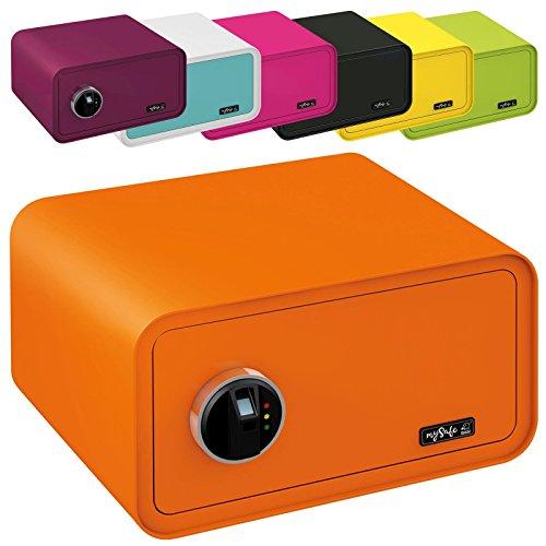 MySafeDisplay cassaforte Design Safe 230X 430X 350mm (AxLxP) impronte digitali serratura diversi colori, verde, rosa, blu/viola