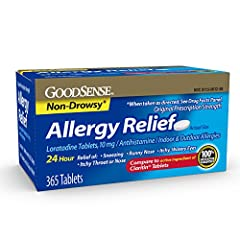 APPROVED FOR INDOOR AND OUTDOOR ALLERGY RELIEF: The active ingredient in GoodSense Allergy Relief is Loratadine 10 mg, an antihistamine approved for the treatment of both indoor and outdoor allergy symptoms. 24-HOUR RELIEF: Each allergy pill contains...
