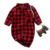 Baby Langarm Plaid Shirt Strampler Baby Jungen Kinder Kariertes Hemden Baumwolle Outfits Gentleman...