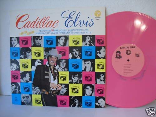 elvis presley cadillac elvis lp 33t.USA pink vinyl rose !! 12 inédits !