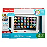 Fisher-Price CDG33 Tablette Smart Stages Rire et Apprendre Bébé Electronique Tablette Jouet Educatif pour 1 an - Version anglaise