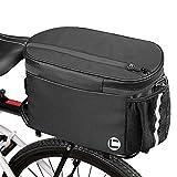 Eyein Fahrrad Kühltasche Gepäckträgertaschen, 10L große Kapazität Wasserdicht mit Doppelt Gezippt Seitentaschen für Outdoor Reisen Pendler
