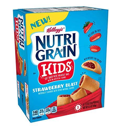 Nutri-Grain Soft Baked Mini Breakfast Bars, Strawberry Blast, 25 ct(Pack of 5, 6.5 oz Boxes)