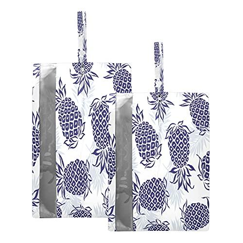 F17 - Borsa da viaggio per scarpe da viaggio con ananas tropicale, foglie di frutta, foglie, impermeabile, portatile, leggera, da viaggio, per uomini e donne, 2 pezzi