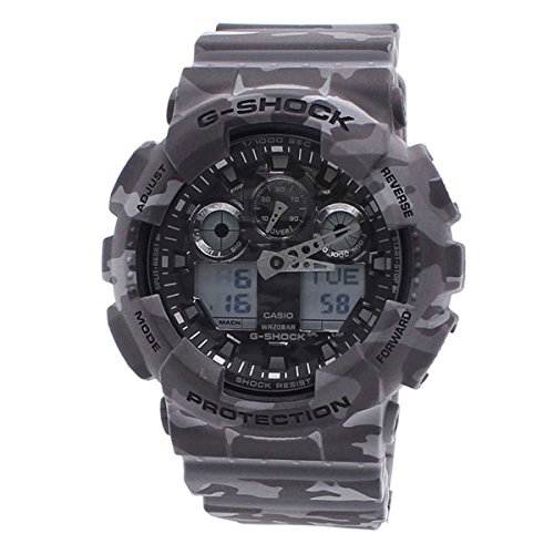 Casio Men's G-Shock GA100CM-8A Gray Plastic Quartz Sport Watch