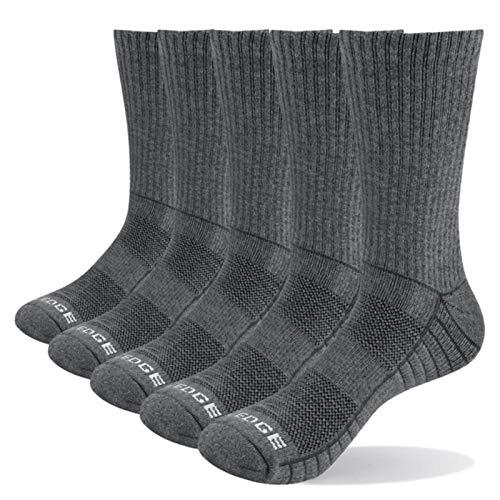 ADAFY 5 pares de calcetines deportivos informales blancos con cojín de algodón cómodos y transpirables unisex